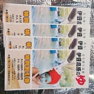 立ち寄り温泉  伊豆高原の湯  特別割引券