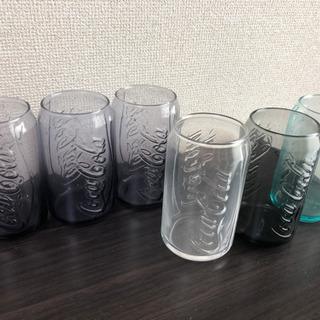 コカコーラのガラスコップ6個