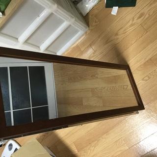 鏡 姿見  おしゃれな木枠 急募9/30月まで 中サイズ