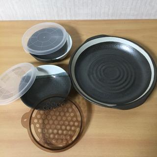 美濃焼き レンジ対応プレートと小鉢2個セット