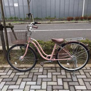 自転車 ママチャリ  6段ギア オートライト