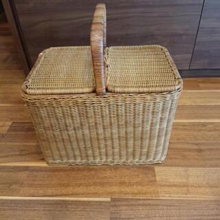 籐製品     大型バスケット