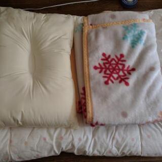 布団セット(枕、毛布、布団)