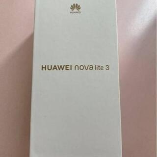 新品未開封 HUAWEI nova lite3 ミッドナイトブラ...