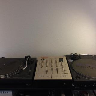 ターンテーブル + DJミキサー セット