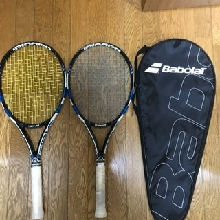 ピュアドライブ2015 テニスラケット2本 ケース付き