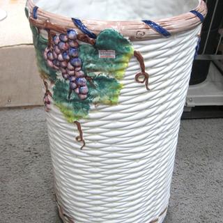札幌 イタリア製 ドマン 陶器 傘立て 葡萄 ぶどう ブドウ イ...