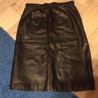 牛皮 スカート