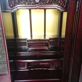 唐木仏壇 桜調和組子台付 1560×660