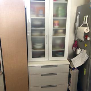 ニトリ食器棚  (ダリア)横70cm  キッチン収納
