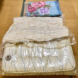 【10/7処分】使用2回のみ シングル羽毛ふとんセット おまけ毛布付き