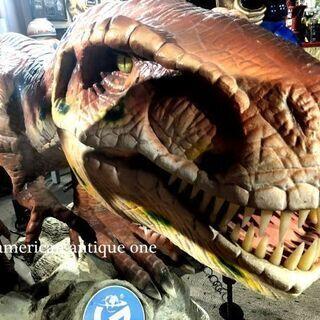 世界限定200体!! 巨大リアル恐竜 3メートル 爆音で吠える!...