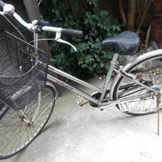 【ジャンク品】シルバー自転車