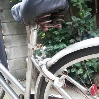 【ジャンク品】シルバー自転車 - 板橋区