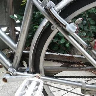 【ジャンク品】シルバー自転車 - おもちゃ