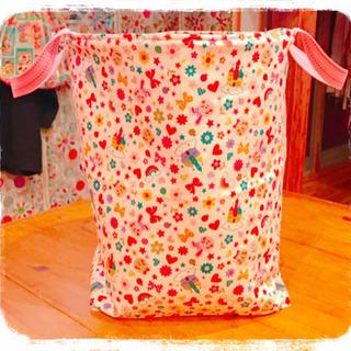 布バスケット【ビックサイズ】【handmade】【1個】