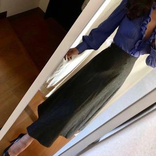 Zara ダークグレー ロング スカートS