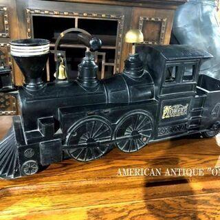 大型70cm アンティーク パイオニア 機関車 模型 汽笛がリア...
