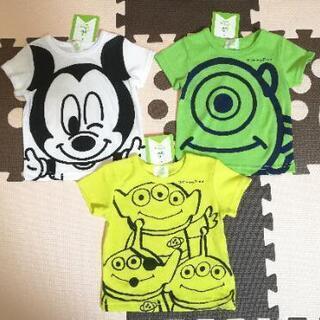 新品未使用 ディズニー 半袖Tシャツ 3枚セット 60 70