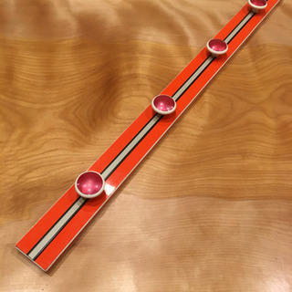昭和 レトロポップ オレンジ色のビンテージ コートラック