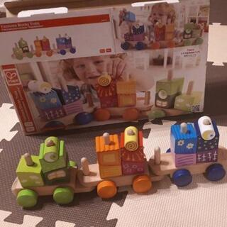 ハペ Fantasia Blocks Train 知育玩具 木製