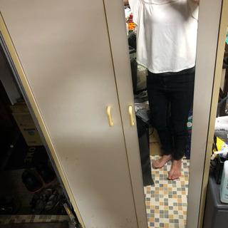 靴箱  鏡付き