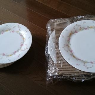 HOYA陶器皿 花柄 大21cm 5枚 小19cm 5枚