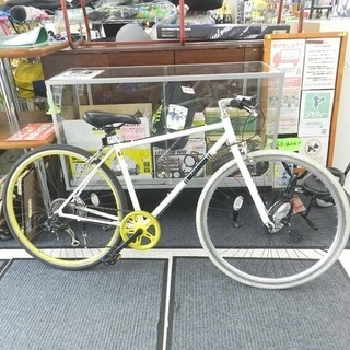 Air bike クロスバイク 28インチ 自転車 7段変速 ホ...
