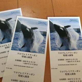 鴨川シーワールド 11月チケット 3枚