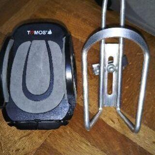 バイクの携帯とジュースホルダー