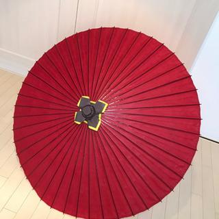 【新品未使用】大番傘 赤 実用番傘 雨傘 防水加工