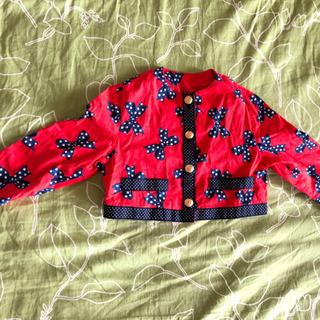 イタリア製 ガールズ ジャケット モスキーノ 4歳用 赤