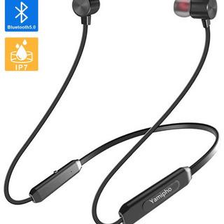 Bluetooth5.0 IPX7完全防水イヤホン