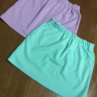紫、緑  ミニスカート  2点