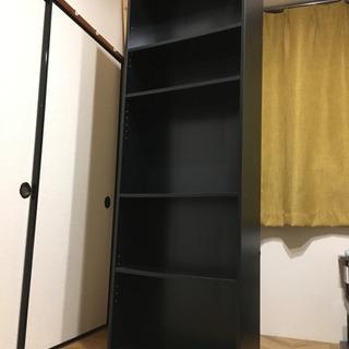 【差し上げます】5段シェルフ*本棚*黒