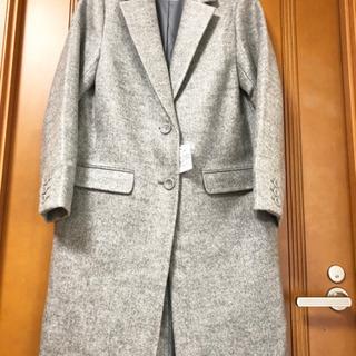 新品タグ付★ 大人っぽいグレーのチェスターコート