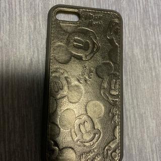 【新品】iPhoneケース レザー調☆ブラック ミッキー