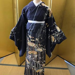 豪華な竹柄訪問着 着物 未仕立て 新品