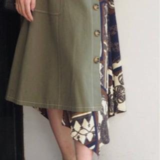 MURUA 新品未使用 スカーフ切り替えロングスカート