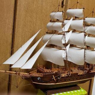 手作りの帆船