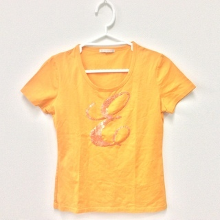 ELLEPLANETE Tシャツ オレンジ