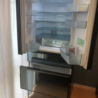 《ほぼ新品》日立 冷凍冷蔵庫 R WX62J Xクリスタルミラー