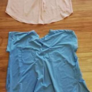 新品シャツ2枚セット MLサイズ ピンク水色