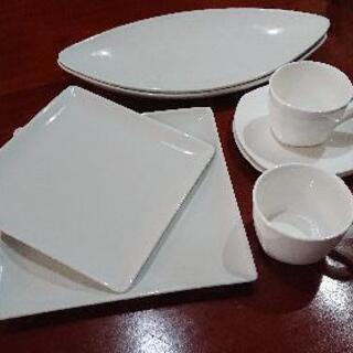 ホワイト食器ペアセット