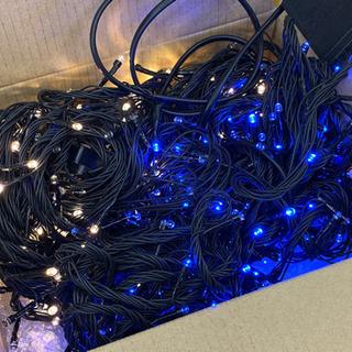 電飾LED 18m 青色と白色セットで
