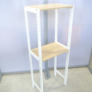 木製の飾り棚 2段 サイドテーブル シンプル