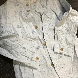 zaraboy  98cm  シロクマシャツ