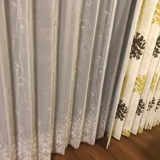 定価約8万円◎北欧風カーテン&レースカーテンのセット