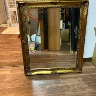 鏡 ミラー 姿見 ゴールドカラー