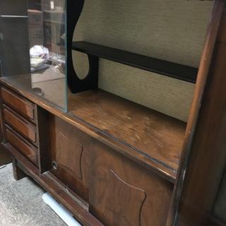 木製 食器棚 ロータイプ